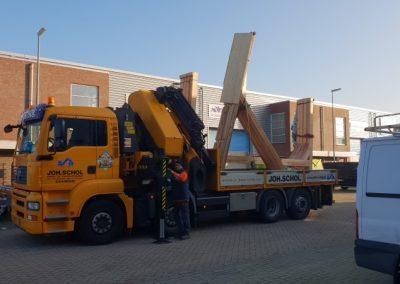 houtskelet vervoer